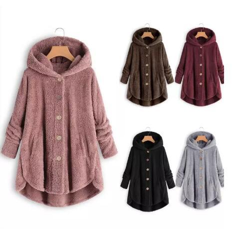 2019 Newest Maternity Winter Coat Women Pregnancy Coats Outerwear Jackets S-5XL Keep Warm Long Loose Hooded Plush Coat
