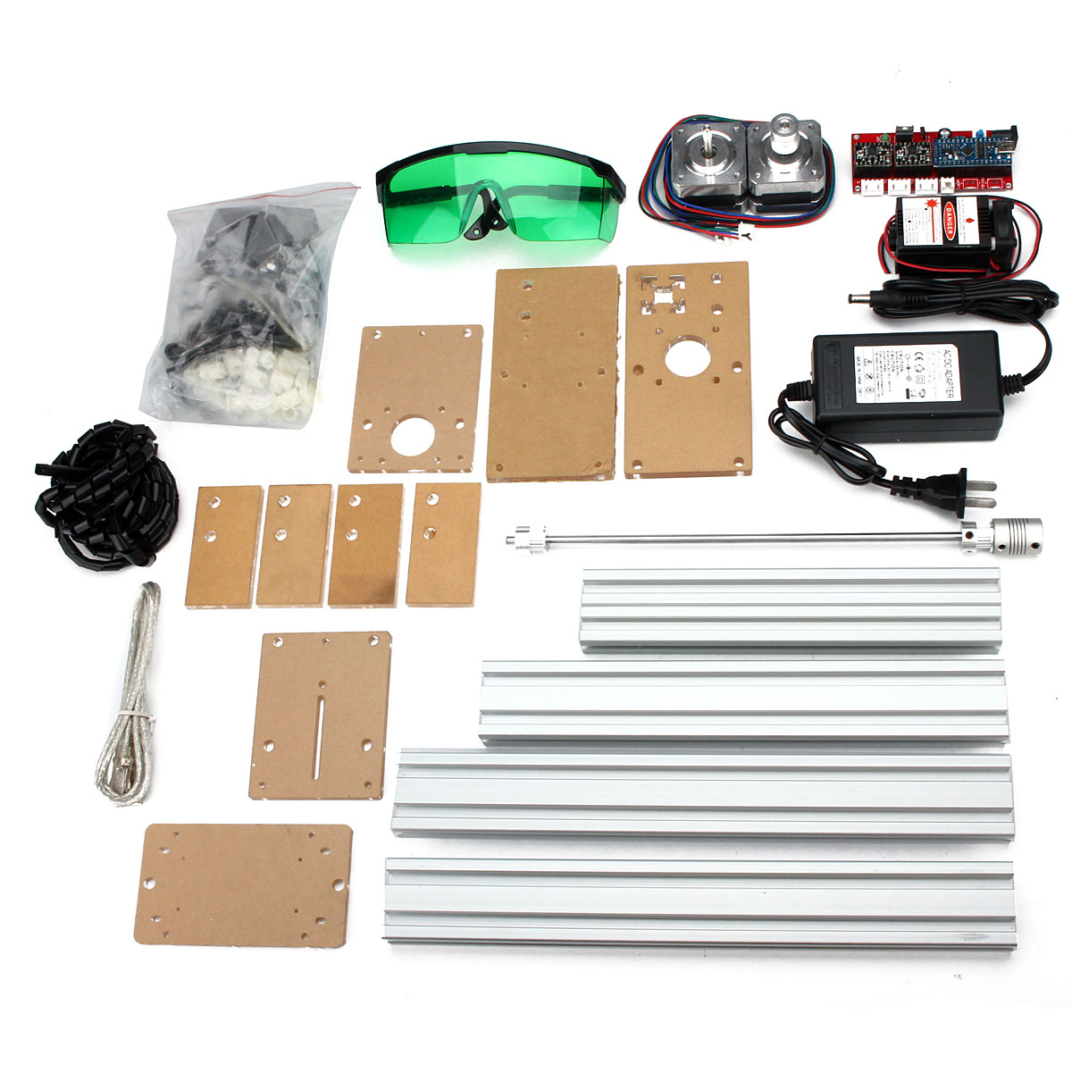 20X17cm Mini DIY Desktop 500mW Blue Laser Engraving Engraver Machine CNC Wood Router/Printer/Cutter/ Adjust + Laser Goggles