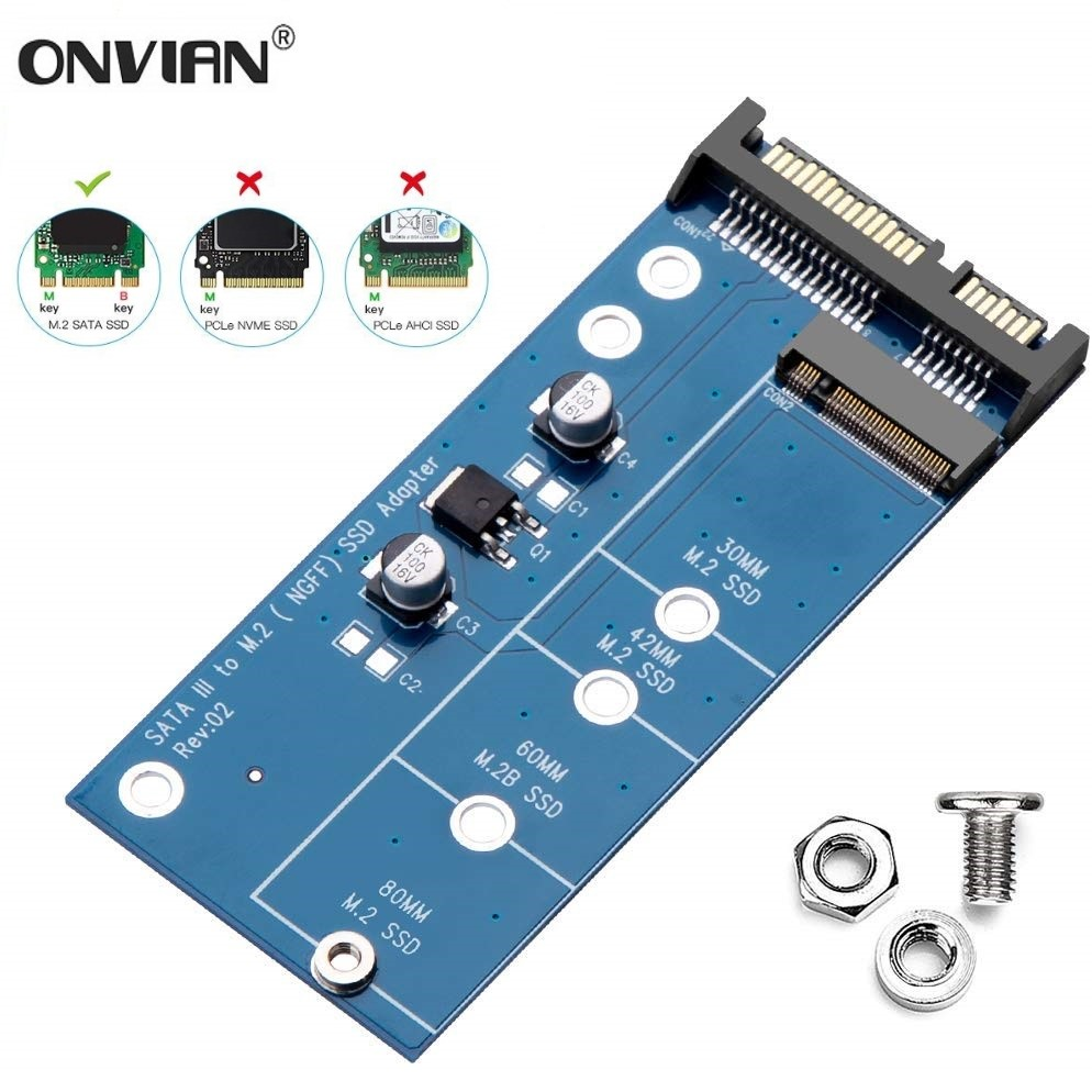 Onvian M2 SSD NGFF to SATA Adapter 6Gbps NGFF M.2 Adapter Card 22-Pin SATA III for NGFF M.2 SATA Converter for Laptop Desktop(China)