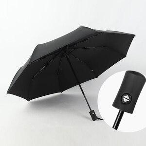 Image 4 - Automatic folding umbrella men rain quality windproof uv large paraguas male stripe parapluie 4 colors recommend
