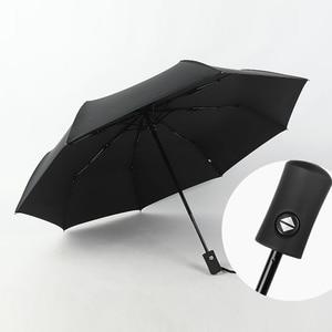 Image 4 - Tự Động Gấp Gọn Vải Dù Nam Mưa Chất Lượng Chống Gió Uv Lớn Dù Paraguas Dây Curoa Nam Sọc Parapluie 4 Màu Sắc Đề Nghị