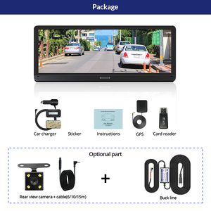 Image 5 - E ACE E14 voiture DVRs 4G Android 8.0 pouces Dash Cam 1080P enregistreur vidéo GPS Navigation ADAS Dashcam avec caméra de vue arrière Dvr automatique