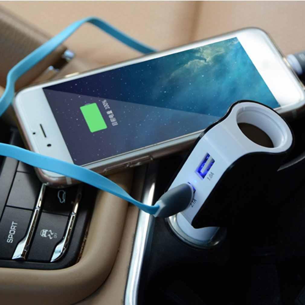 المزدوج USB شاحن سيارة شاشة ديجيتال ولاعة السجائر المقبس 5V 3.1A اللوحي GPS محول شاحن هواتف xiaomi فون