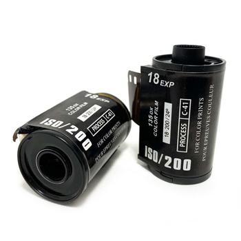 18 hojas de impresión en Color ISO 200 35mm Cámara película portátil papel fotográfico para 135 formato Cámara impermeable Lomo Holga dedicado