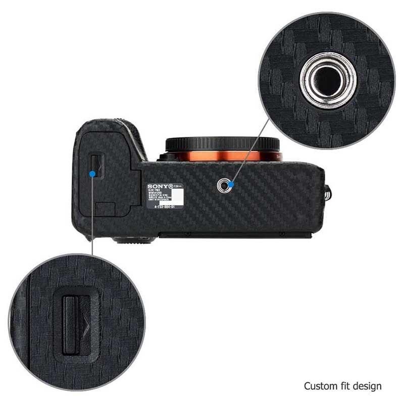 lowest price Anti-Scratch Camera Body Carbon Fiber Film Kit For Sony A7 III A7R III A7III A7RII A7II A9 A7M3 A7RM4 Cameras Skin Sticker