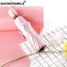 SHOWERSMILE Pink Ladies Umbrella Rain Women Men Full-automatic Solid Sunny Rainy Windproof Waterproof Female Parasol