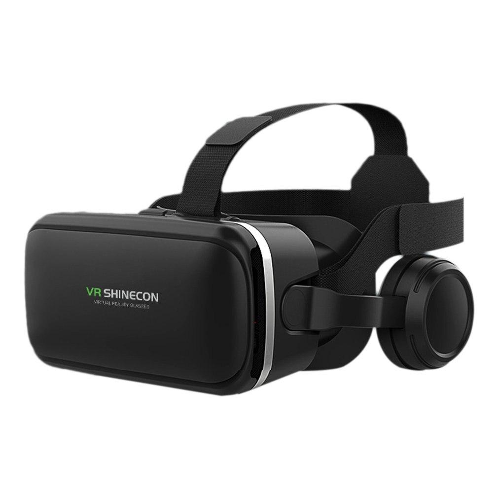 Immersive VR Glasses Headset Box Virtual Reality Mobile 3D Video Helmet 6 Generation Stereo Cardboard