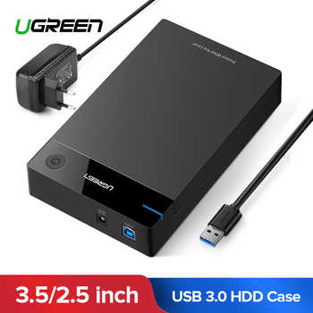 Ugreen HDD Case 3.5 2.5 SATA to USB 3.0 Adapter External Hard Drive Enclosure Reader for SSD Disk HDD Box Case HD 3.5 HDD Case - DISCOUNT ITEM  25% OFF All Category