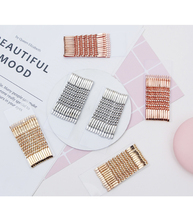Spiral Gold Silver Color Bobby Pins