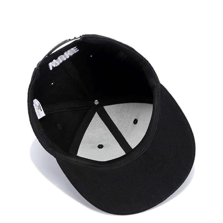 عالية الجودة أزياء شخصية اللون الجمجمة التطريز الهيب هوب قبعة الرجال النساء قبعة سوداء