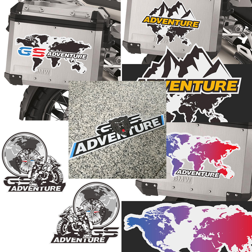 For BMW R1200gs F850gs F800gs R1250gs F750gs R1150gs G310gs R 1200 F800 GS Adventure Panniers Luggage Aluminium Stickers Decal