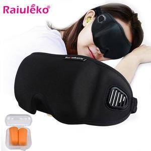 Bandage Blindfold Sleeping-Eye-Mask Soft-Black/grey Shade Eyepatch Earplugs Relax Breathable
