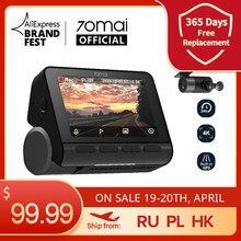 70mai A800S Dash Cam 4K Встроенный GPS ADAS реальные 70mai 4K A800 Камера UHD Кино-качество изображения 24 часа в сутки Парковка передние и задние камеры 140FOV