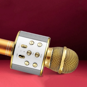Image 3 - Wireless Karaoke Microphone Portable Bluetooth mini home KTV for Music Playing Singing Speaker Player PHONE PC Purple/Blue/Gold