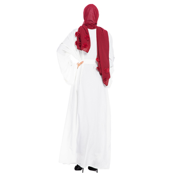 Solid Color Open Abaya Kimono Dubai Kaftan Islam Muslim Hijab Dress Jilbab Abayas For Women