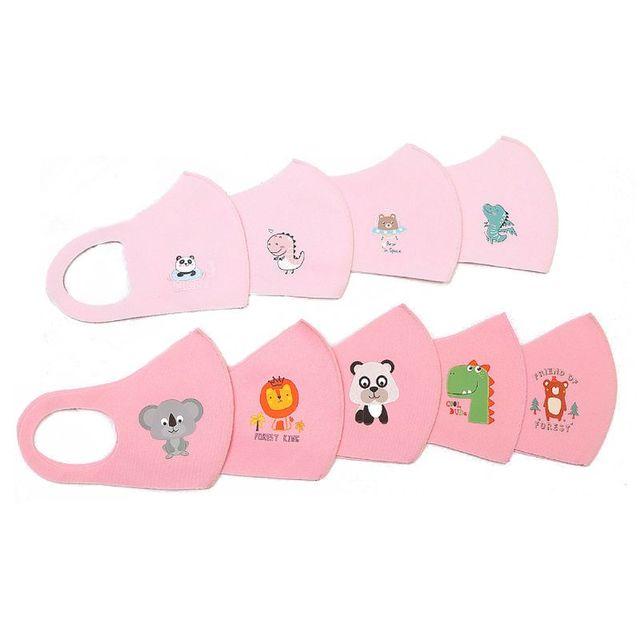 10Pcs PM2.5 Kid Reusable Anti Flu Face Mask Breathable Washable Sponge Dustproor Mouth Mask Random Pattern for Children 3