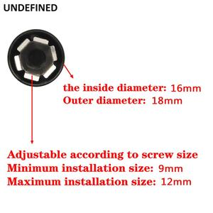 Image 3 - 10pcs Motorcycle Schrauben Motor Bolt Topper Cover Cap CNC Inner 9mm 12mm For Harley Twin Cam Touring Dyna Softail Black