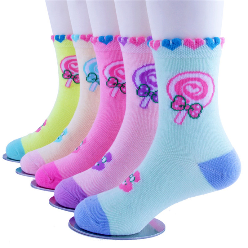 5Pairs/Lot Kid Socks Winter Autumn Girl Cartoon Socks Children Sock Breathable Cotton Socks For 2 4 6 8 10Years Boys Girls Socks