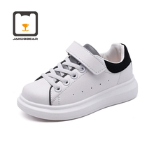 Kids White Leather Shoes for Girls Boys Children Sports Sneakers Keep Warm Runni