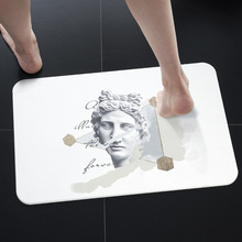 Plaster portrait diatom mud mat durable quick-drying absorbent bathroom carpet non-slip diatomite carpet