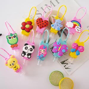 30 ML Travel Portable Cartoon Animals Food Silicone Mini Hand Sanitizer Holder Gel Holder Hangable Liquid Dispenser Containers