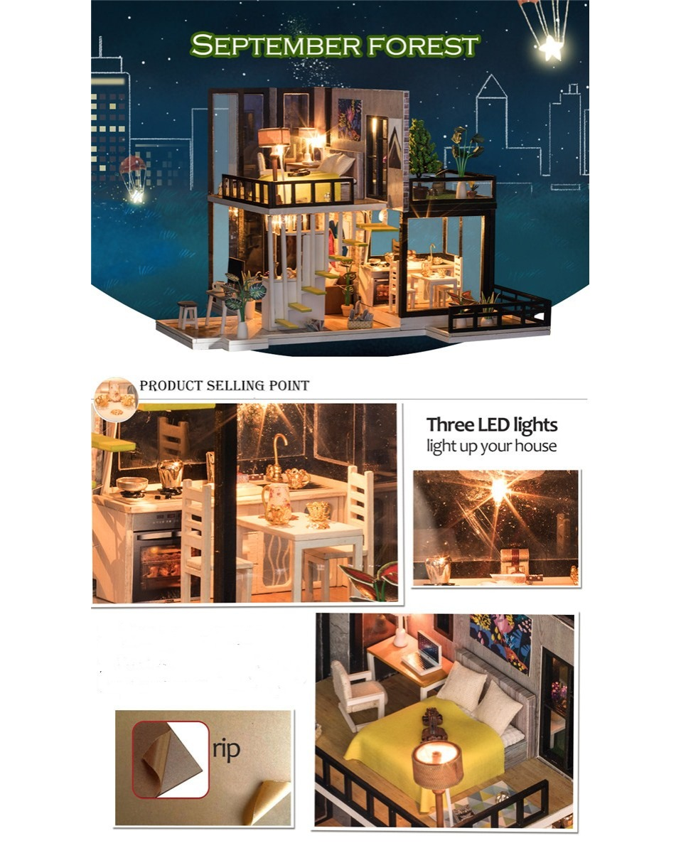 H45af620239ba4f1eaa839f8637430d5eu - Robotime - DIY Models, DIY Miniature Houses, 3d Wooden Puzzle