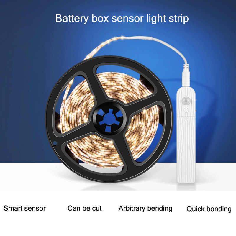 1M 2M 3M LED Licht Mit Menschlichen Körper Intelligente Induktion LED-Licht Mit Batterie Box Licht Bar 2835 licht Mit Schrank Licht Bar