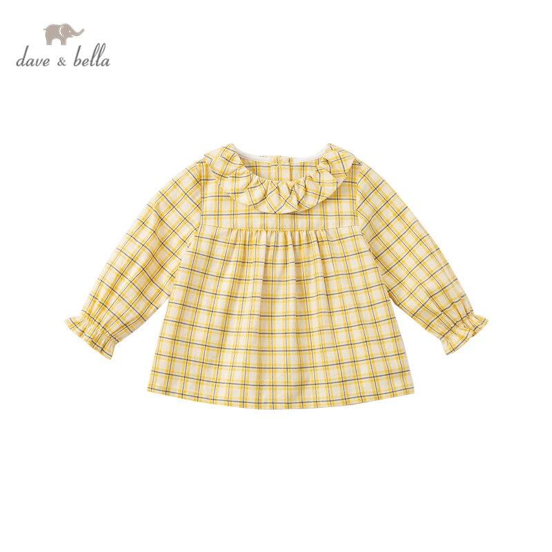 DBM16511 нижнее белье в стиле бренда dave bella/модные весенние платья для маленьких девочек с длинным рукавом в шотландскую клетку рубашки для малышей; Топы для детей ясельного возраста; Детская одежда высокого качества|Блузки и рубашки| | АлиЭкспресс