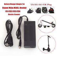 Power Cable Battery Charger for Xiaomi M365  Ninebot ES1 ES2 ES3 ES4 Kick Scooter Charger Power Supply Charger skateboard dc 42v 1 7a power supply charger for xiaomi m365 ninebot es 1 2 3 4 kick scooter charger