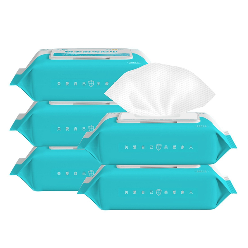 50pcs/box Disinfection Antiseptic Pads Alcohol Swabs Wet Wipes Skin Cleaning Care Sterilization First Aid Cleaning Tissue Box