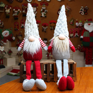 2020 New Year Handmade Swedish Stuffed Toy Santa Doll Gnome Scandinavian Tomte Nordic Nisse Sockerbit Dwarf Elf Home Ornaments