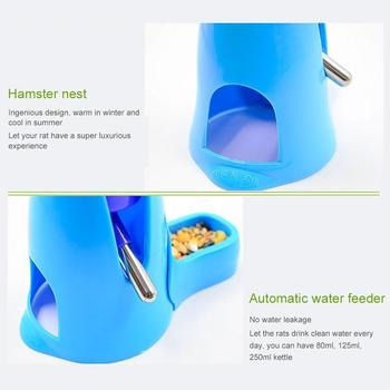 Hamster Drinker Feeder Automatic Kettle Three-in-one Feed Water Supplies Drinking Water Mini Bowl Pot Holder Water Bottle Small 3