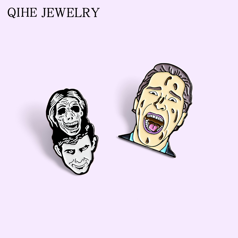 Psycho Killer Enamel Pins Norman Classic Movie Alfred Hitchcock Lovers Fans Brooches Horror Film Badges Jewelry Pin Wholesale image