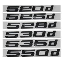 Preto 520d 525d 528d 530d 535d 550d traseiro boot tronco tampa letras emblema emblema emblema emblemas para bmw série 5 e39 e60 e61 f10 f11
