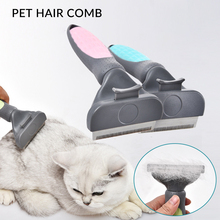 Pet Dog Combs Hair Remover Cat Brush Grooming Tools Pet Trimmer Combs Golden Retriever One-click Comb Shaving Knife цена 2017