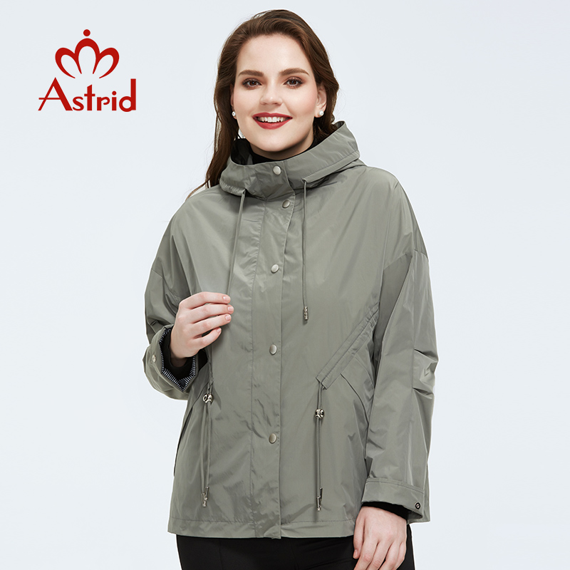 Astrid 2020 Spring Coat Women Outerwear High Quality Plus Size Short Style With A Hood Fashion Jacket Women For Spring AS-9417