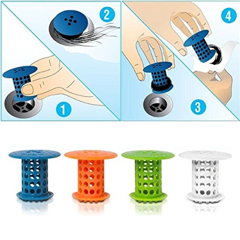 Bathroom Drain Stopperbath Hair Catcher Plug Sink Strainer Sewer Filter Shower Hair Stopper Bathroom Kitchen Accessories