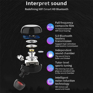 Image 5 - Wireless tws Bluetooth Earphone Multi function Set with 50mAh Black/White Charging Compartment 2600mAh Stereo earphone Touch