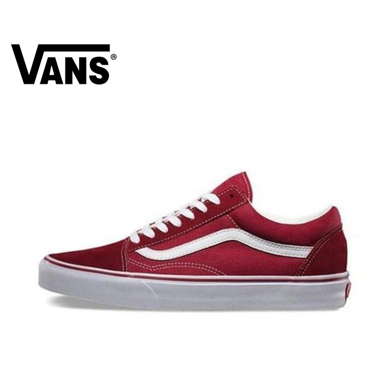 VANS OLD SKOOL Men And Women Shoes Classic Original Authentic Outdoor Street Style Low To Help Comfort 2019 New Red VN000VOKDIC