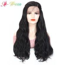 Женский парик с косами натуральный волнистый передний термостойкий