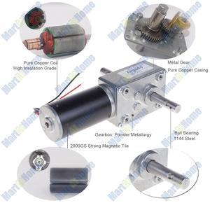 Image 5 - 5840 31zy תולעת DC גיר מנוע כפול פיר 21W 12V 24V עצמי נעילה מקס. 70Kg.cm עבור DIY אוטומטי ייבוש מדף