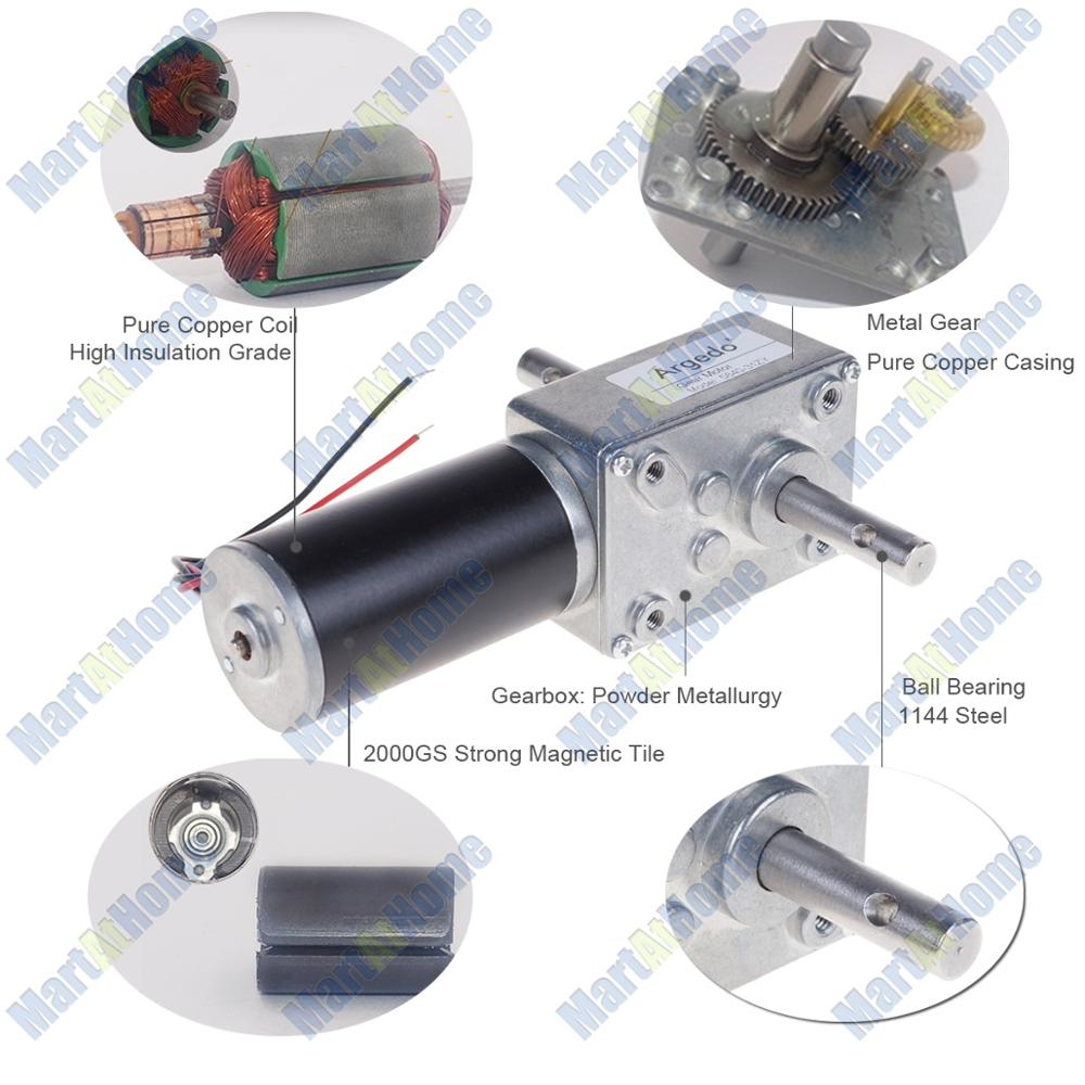 Image 5 - 5840 31zy Worm DC Geared Motor Double Shaft 21W 12V 24V Self locking Max. 70 Kg.cm for DIY Automatic drying rack-in DC Motor from Home Improvement