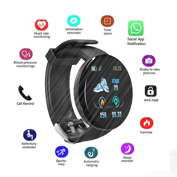 Fashion Smart Watch Men Women Blood Pressure Round Smartwatch Waterproof Sport Smart Watch Clock Fitness Tracker for Android Ios color touch screen smartwatch motion detection smart watch sport fitness men women waterproof wearable devices for ios android