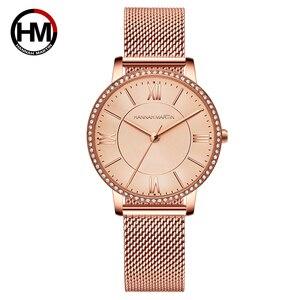 Image 5 - Relojes de pulsera con diamantes de imitación para mujer, de cuarzo japonés, informal, femenino