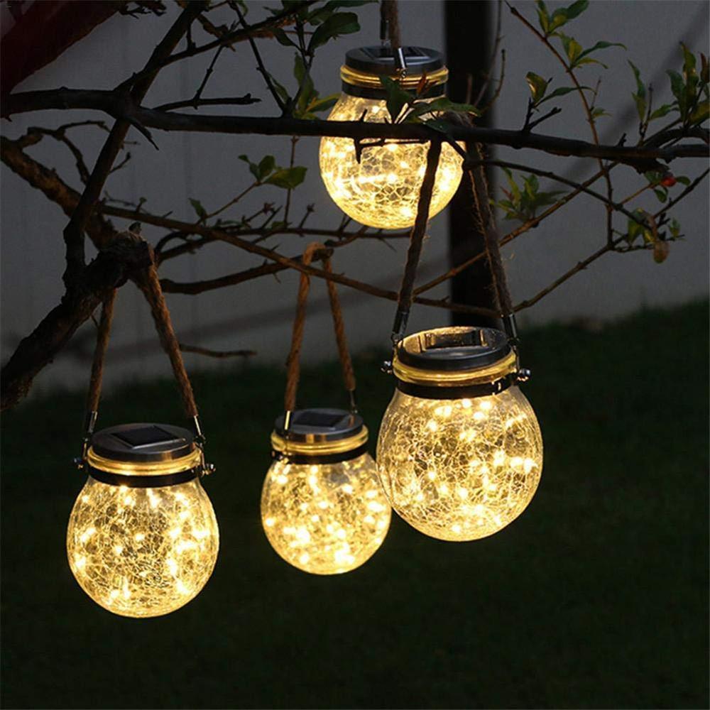 Solar Powered LED Fairy Mason Jar Lantern Lights For Patio Outdoor Party Wedding Garden Courtyard Decorative Led Lamps