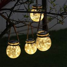 Solar Powered LED Fata Mason Jar luci Lanterna per Patio Esterno di Festa di Nozze Giardino Cortile Decorativo Lampade A Led(China)