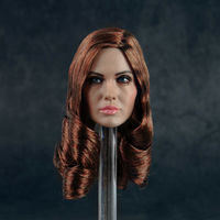1/6 Scale Angelina Jolie Female Head Sculpt Head Carving Girl Head Model fit 12'' Action Figure Body Toys Collection