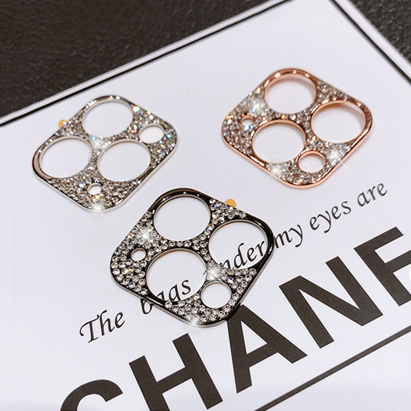 Rhinestone Glitter Camera Lens film Protector Case For iphone 11 Pro Max Diamond Full Lens Screen Protective Cover For iPhone 11