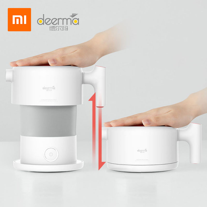 Xiaomi Deerma 0.6L Folding Portable Water Kettle Handheld Electric Water Flask Pot Auto Power-Off Protection Wired Kettle