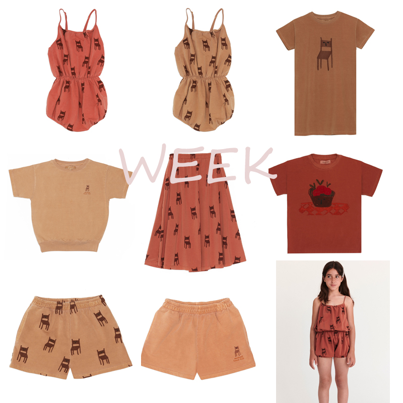 Pre-sale BoBomoon-WEEK 2020 SUMMER Girls T-shirt Outfits Toddler Girl Clothes First Christmas Boy Clothes Girls Beach Kids Sets